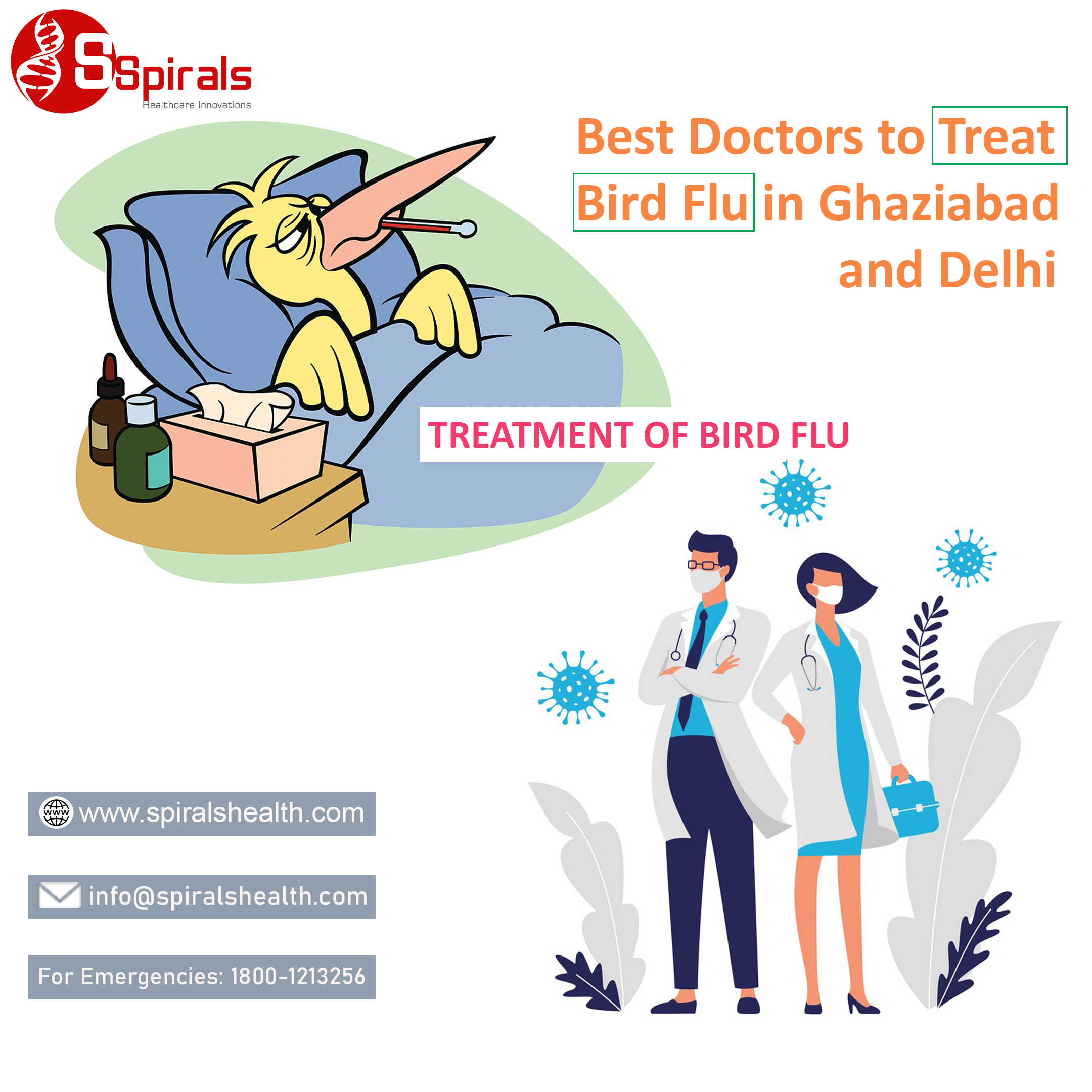 Best Doctors to Treat Bird Flu in Ghaziabad and Delhi