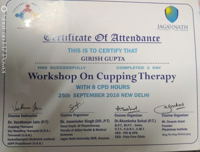 Certification in Cupping Therapy